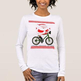 cyclist Christmas apparel Long Sleeve T-Shirt