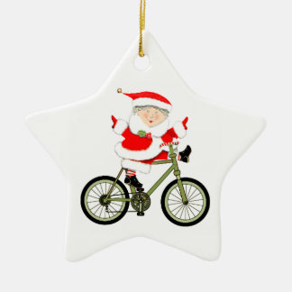 Cyclist Christmas Christmas Ornament