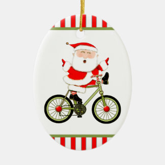 Cyclist Christmas Collectible Christmas Ornament