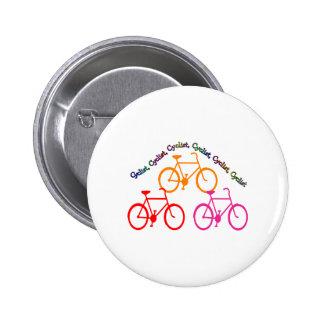 Cyclist Gifts, Biking Mania! 6 Cm Round Badge