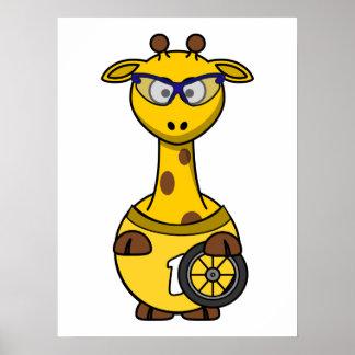 Cyclist Giraffe Print
