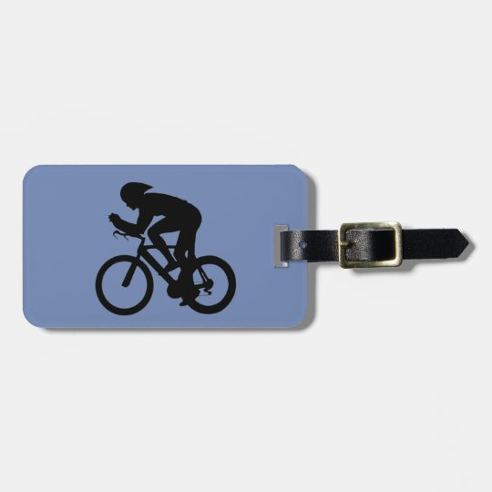 Cyclist luggage label, customiseable luggage tag