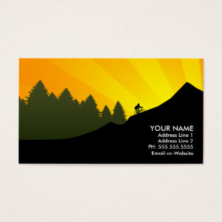cyclist : mountain rays : business card