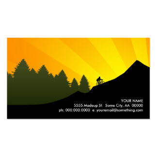 cyclist mountain rays business cards