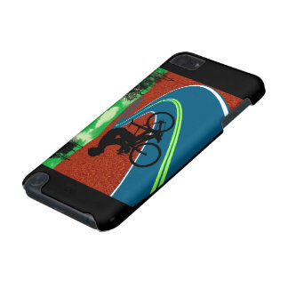 Cyclist on a Curved Highway iPod Touch (5th Generation) Cases