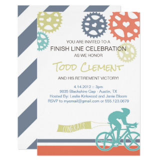 Cyclist Road Bike Invitation