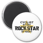 Cyclist Rock Star by Night Fridge Magnets