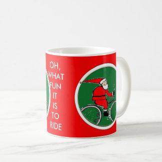 Cyclist Santa Coffee Mug