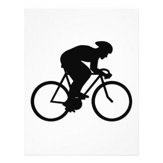 Cyclist Silhouette. 21.5 Cm X 28 Cm Flyer
