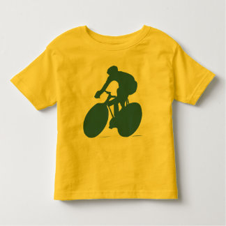 Cyclist Silhouette Toddler Shirt