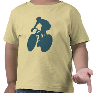 Cyclist Silhouette Toddler Shirt T Shirts