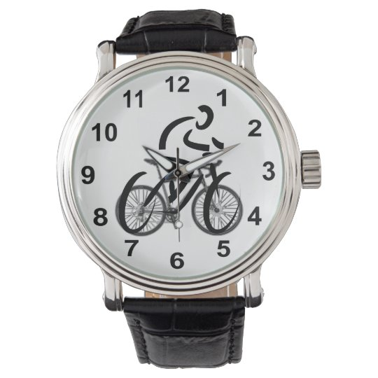 Cyclist Themed Bicycle Design Watch