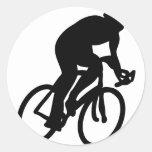 cyclist tour de france racing bike round stickers