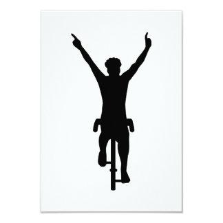 Cyclist winner 3.5x5 paper invitation card
