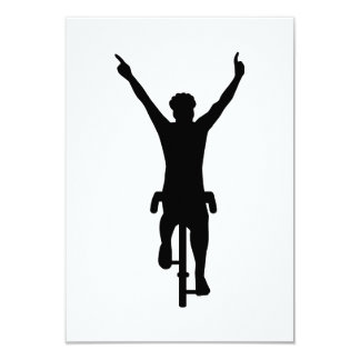 Cyclist winner 9 cm x 13 cm invitation card