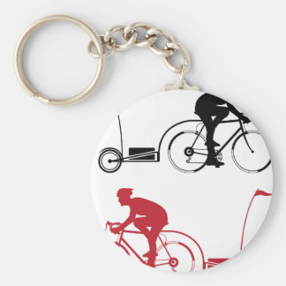Cyclist with a trailer key ring