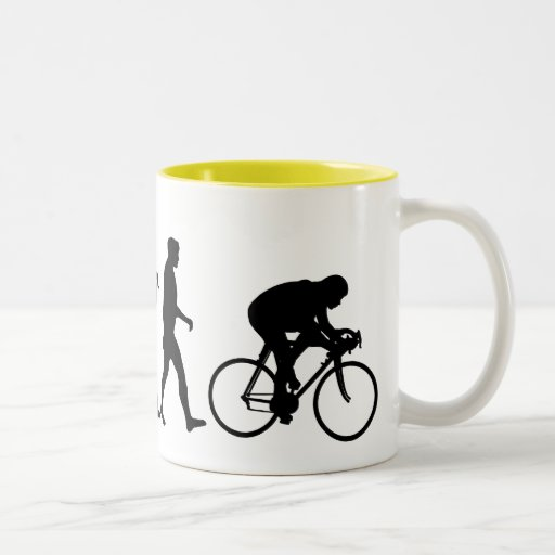 Cyclists Cycling evolution Bicycle Riders Coffee Mug