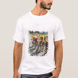 Cyclists posing on country road T-Shirt