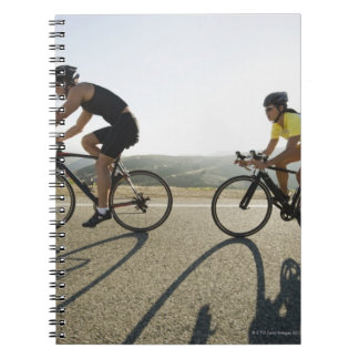 Cyclists road riding in Malibu Notebooks