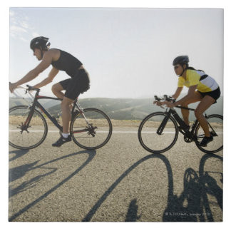 Cyclists road riding in Malibu Tile