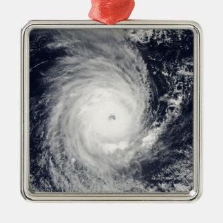 Cyclone Adeline-Juliet moving west Silver-Colored Square Decoration
