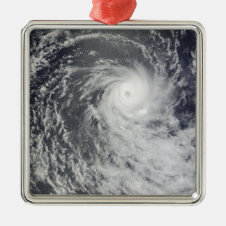 Cyclone Anja over the Southern Indian Ocean Silver-Colored Square Decoration