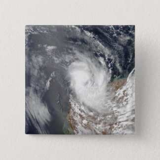 Cyclone Dominic off the shore of Western Austra 15 Cm Square Badge
