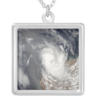 Cyclone Dominic off the shore of Western Austra Silver Plated Necklace