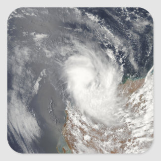 Cyclone Dominic off the shore of Western Austra Square Sticker