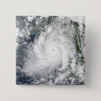 Cyclone Giri moves ashore over Burma 15 Cm Square Badge