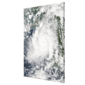 Cyclone Giri moves ashore over Burma Canvas Print