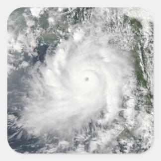 Cyclone Giri moves ashore over Burma Square Sticker