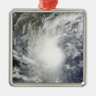 Cyclone Jal Silver-Colored Square Decoration