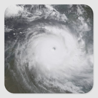 Cyclone Monica in the south Pacific Ocean Square Sticker