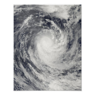 Cyclone Rene over the South Pacific Ocean Poster