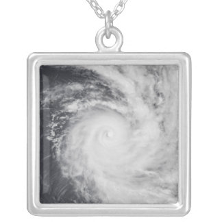 Cyclone Zoe in the South Pacific Ocean Silver Plated Necklace