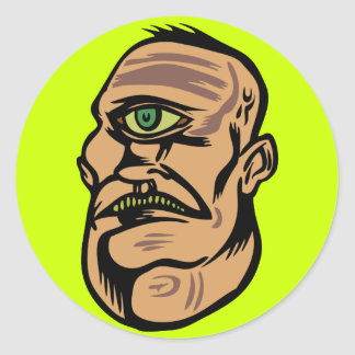 cyclops classic round sticker