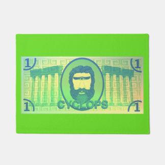 Cyclops Dollar door mat