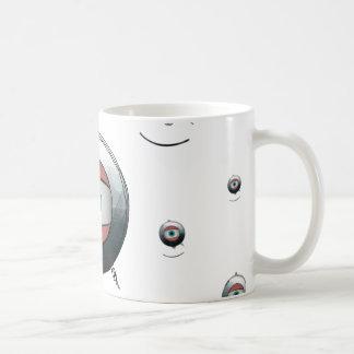 Cyclops goggled eye basic white mug