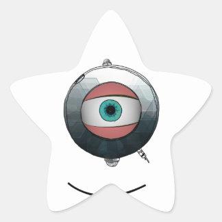 Cyclops goggled eye star sticker