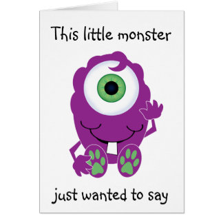 Cyclops Monster Card