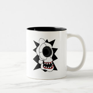 CYCLOPS SKULL 2 Two-Tone COFFEE MUG