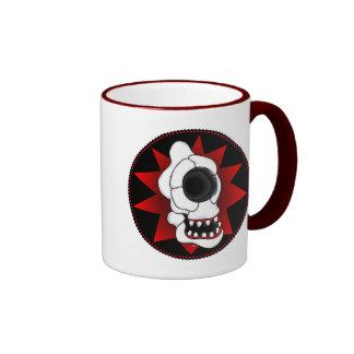 CYCLOPS SKULL 4r Ringer Mug