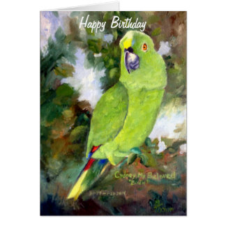 Cydney Yellow Naped Parrot Card