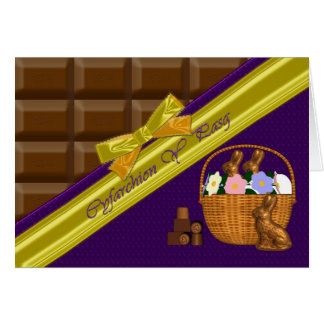 Cyfarchion Y Pasg , Easter Greetings, Welsh Langua Greeting Card