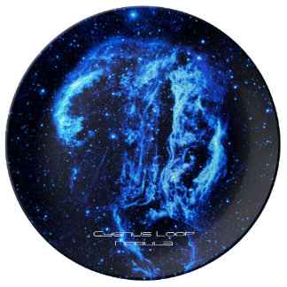 Cygnus Loop Nebula outer space picture Porcelain Plates