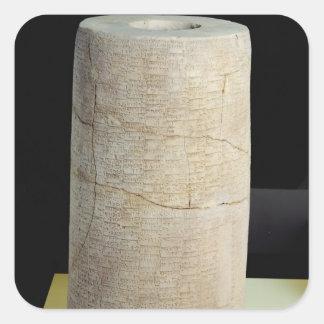 Cylinder B with a votive inscription Square Sticker