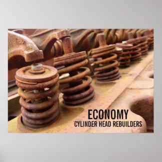 Cylinder Head Rebuilders Rusty Engine Block Photo Poster