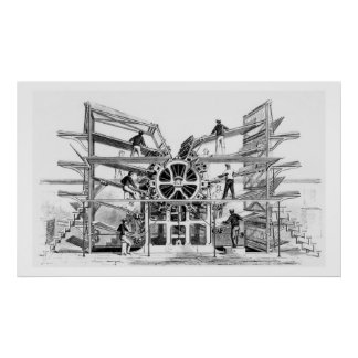 Cylinder printing press invented by Richard March Print