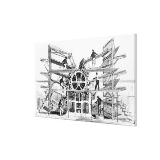 Cylinder printing press invented by Richard March Stretched Canvas Print